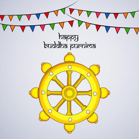 Illustration of background for Hindu Buddhism festival Buddha Purnima Foto de archivo - 100731645