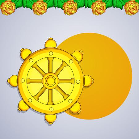 Illustration of background for Hindu Buddhism festival Buddha Purnima Foto de archivo - 100731646