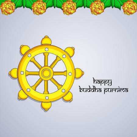 Illustration of background for Hindu Buddhism festival Buddha Purnima Foto de archivo - 100731648