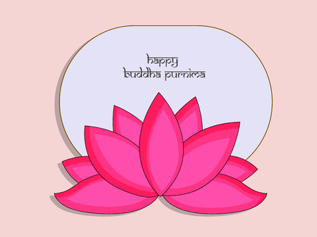 Illustration of background for Hindu Buddhism festival Buddha Purnima Foto de archivo - 100731649