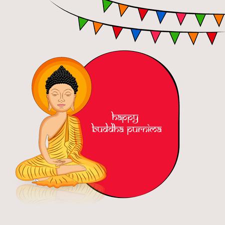 Illustration of background for Hindu Buddhism festival Buddha Purnima Foto de archivo - 100731651