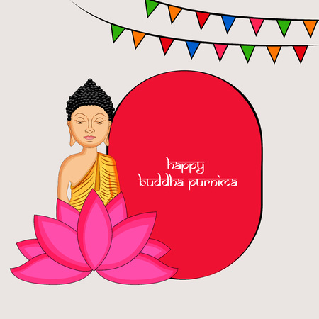 Illustration of background for Hindu Buddhism festival Buddha Purnima Foto de archivo - 100731652