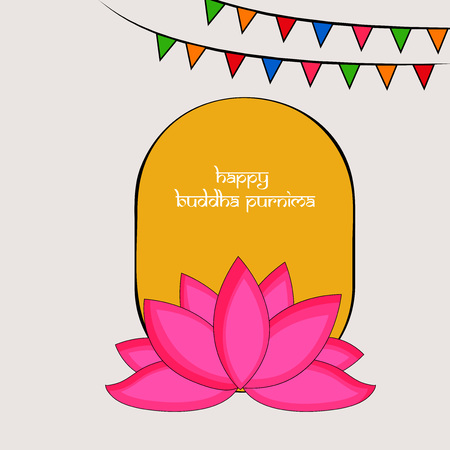 Illustration of background for Hindu Buddhism festival Buddha Purnima Foto de archivo - 100731653