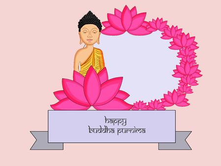 Illustration of background for Hindu Buddhism festival Buddha Purnima Foto de archivo - 100731655