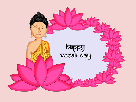 Illustration of background for Hindu Buddhism festival Buddha Purnima Foto de archivo - 100731659