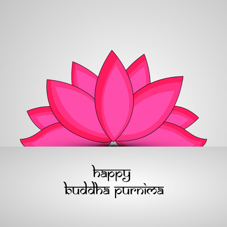 Illustration of background for Hindu Buddhism festival Buddha Purnima Foto de archivo - 100731660