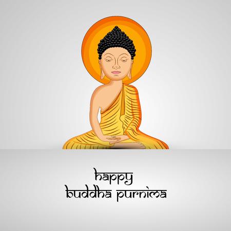 Illustration of background for Hindu Buddhism festival Buddha Purnima Foto de archivo - 100732001