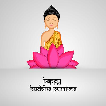 Illustration of background for Hindu Buddhism festival Buddha Purnima Foto de archivo - 100732003