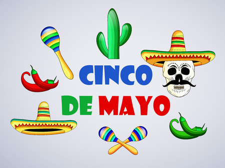 Illustration of background for Cinco De Mayo