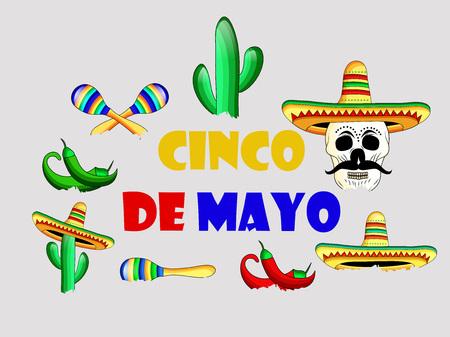 Illustration of Cinco De Mayo background