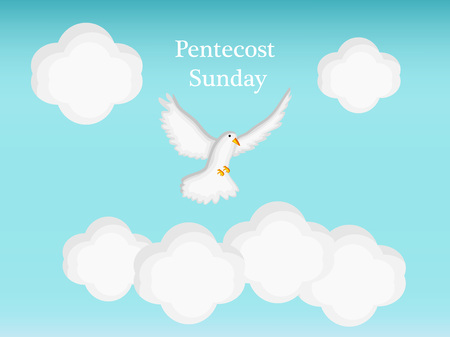 Illustration of background for Pentecost Sunday