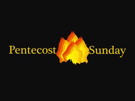 Illustration of background for Pentecost Sunday Vektoros illusztráció