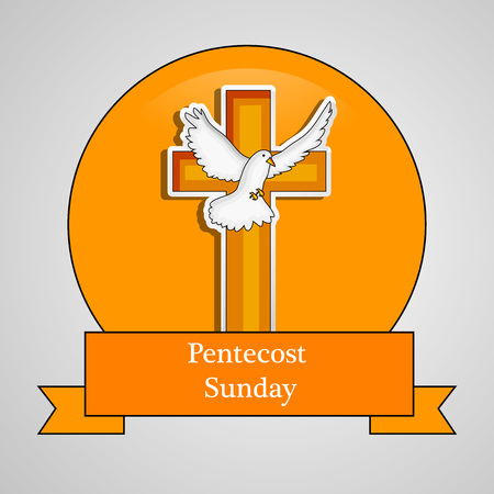 Illustration of background for Pentecost Sunday
