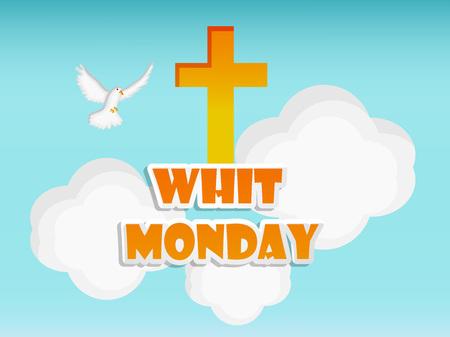 Illustration of elements of Whit Monday Background