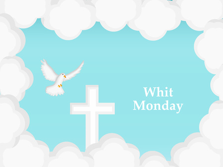 Illustration of elements of Whit Monday Background