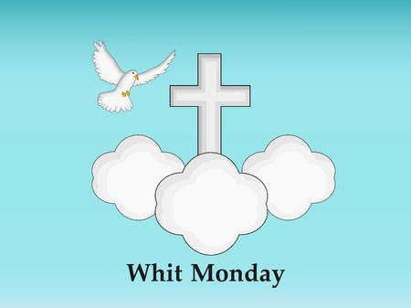 Illustration of elements of Whit Monday Background Vektoros illusztráció