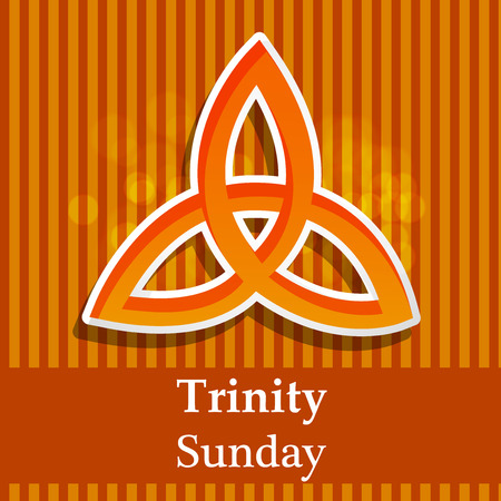 Illustration of background for Trinity Sunday 矢量图像