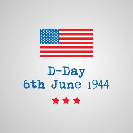 Illustration de l'arrière-plan du jour J des États-Unis