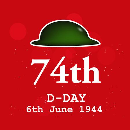 Illustration of U.S.A D-Day background