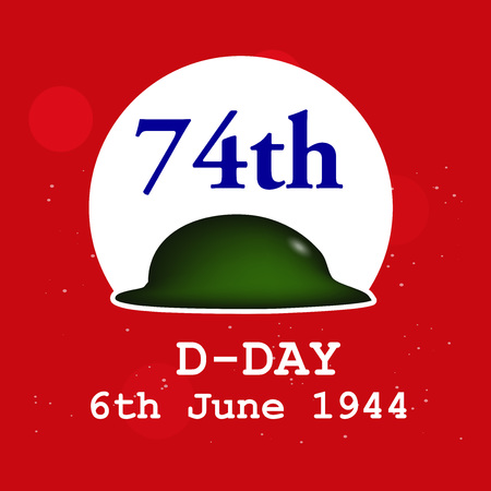 Illustration of U.S.A D-Day background