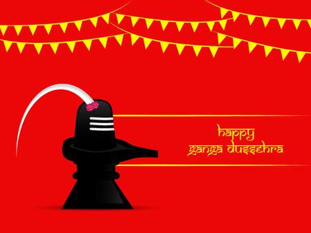 Illustration of background for the ocassion of Hindu festival Ganga Dussehra Illustration