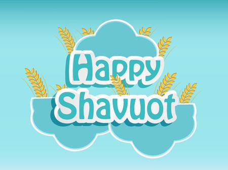 illustration of elements of Shavuot Background Ilustracja