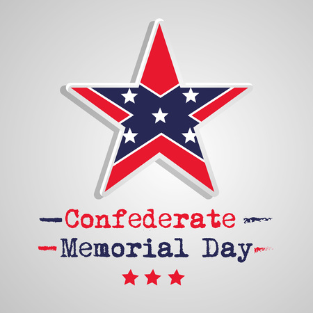 illustration of elements of Confederate Memorial Day background