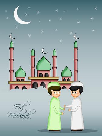 Illustration of Muslim festival Eid background Illustration
