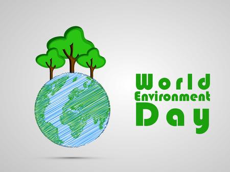 Illustration of World Environment Day background