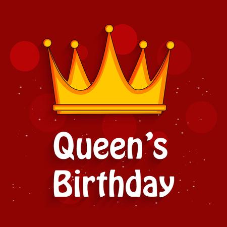 澳大利亚女王/王后的生日背景的例证