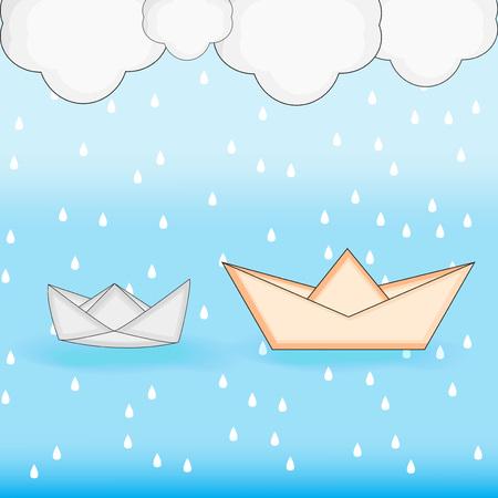 Illustration of Monsoon season background