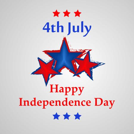 Illustratie van de achtergrond voor de dag van de Onafhankelijkheid van de VS.