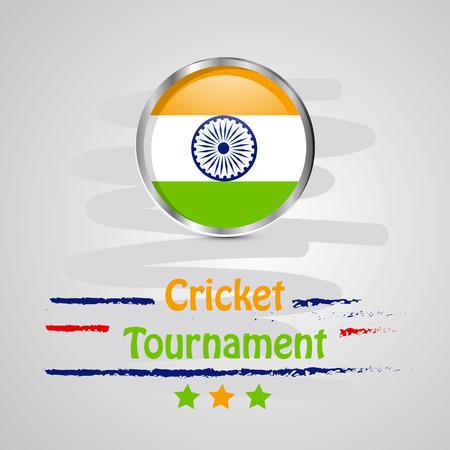 Illustration of Cricket sport background Illustration