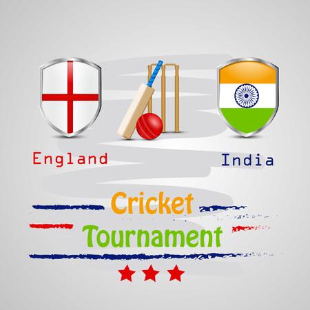 Illustration of Cricket sport background 向量圖像