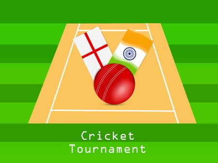 Illustration of Cricket sport background Ilustração