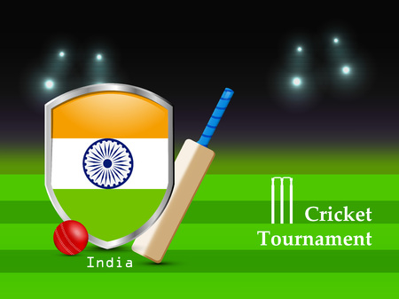 Illustration of Cricket sport background Çizim