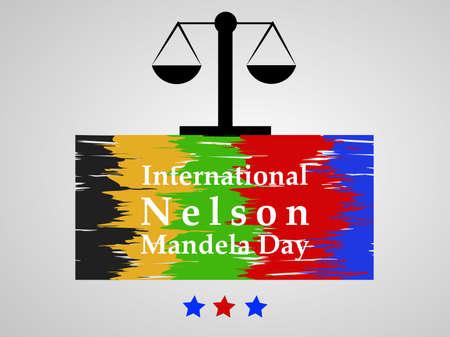 Illustration of Nelson Mandela Day background