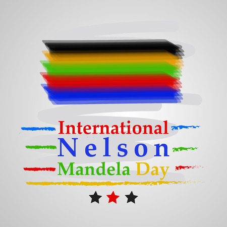 Illustration of Nelson Mandela Day background