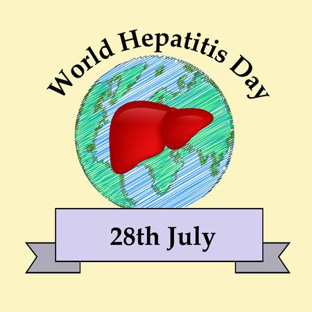 Illustration of World Hepatitis Day awareness background Ilustrace