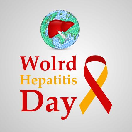 Illustration of World Hepatitis Day awareness background Vectores