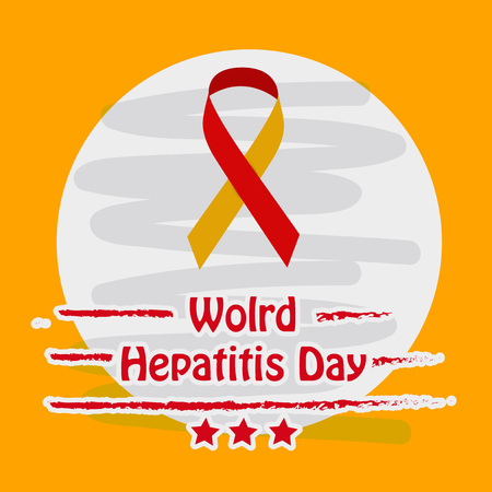 Illustration of World Hepatitis Day awareness background Illustration