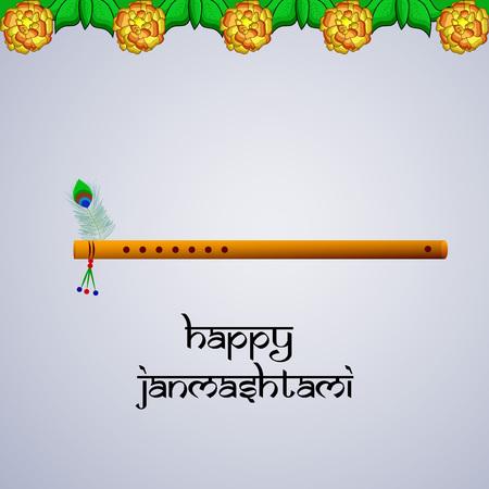 Illustrazione di sfondo per l'occasione del festival indù Janmashtami celebrato in India
