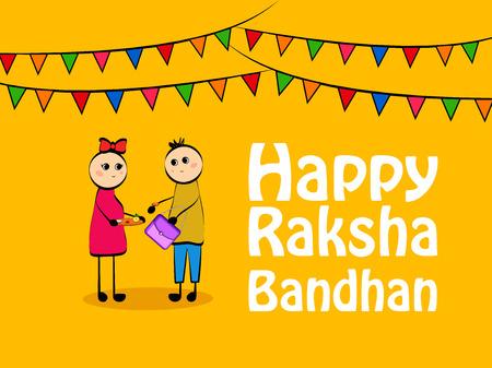 Illustration of Indian festival Raksha bandhan background Illustration