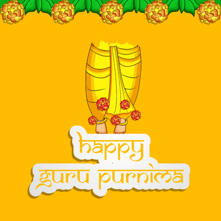 illustration of background for the occasion of hindu festival Guru Purnima celebrated in India