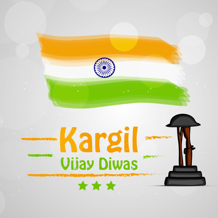 Illustration of Indian occasion Kargil Vijay Diwas background observed in IndiaIllustration of Indian occasion Kargil Vijay Diwas background observed in India