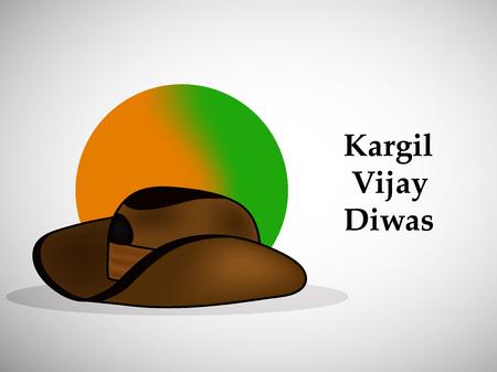 Illustration of Indian occasion Kargil Vijay Diwas background observed in India