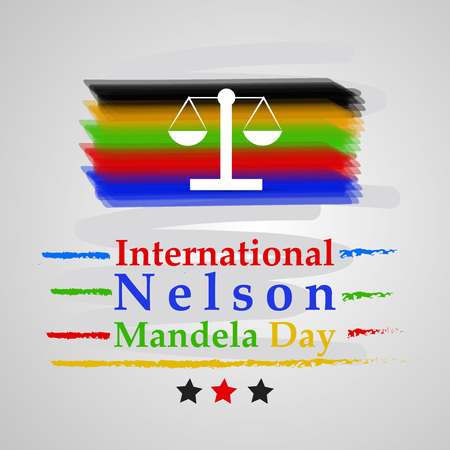 Illustration of background for Nelson Mandela Day