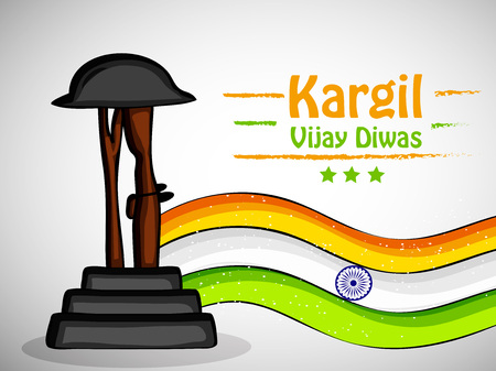 Illustration of Indian occasion Kargil Vijay Diwas background observed in India