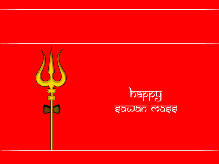 Illustration of background for the occasion of Hindu religious  festival Sawan Mass celebrated in India Illustration