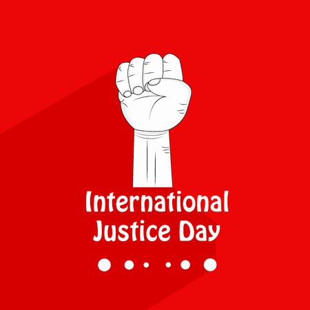 illustration of background for International Justice day 矢量图像